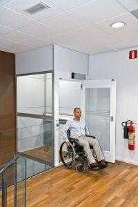 Platformlift-rolstoel