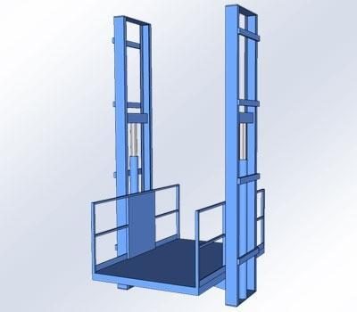 Goederenlift 5000kg dubbele kolom