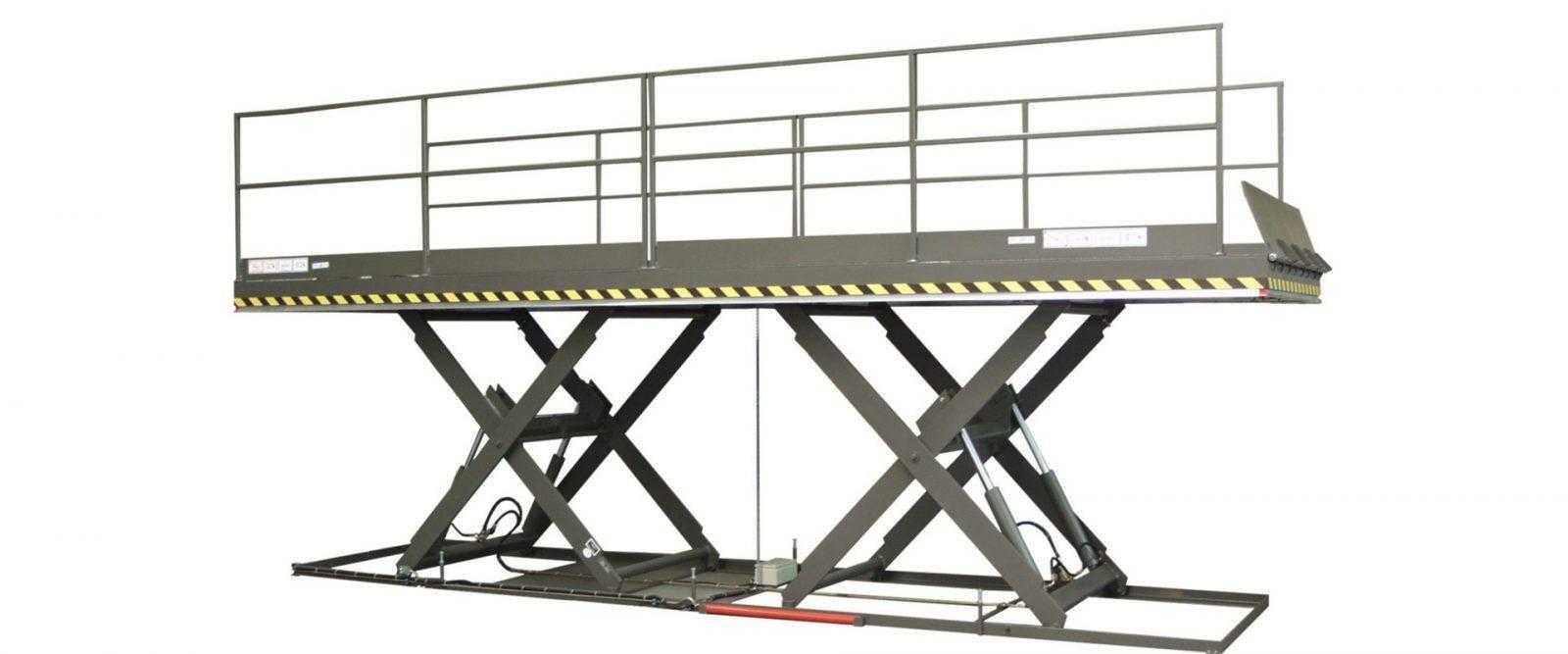 Dubbele horizontale schaarlift