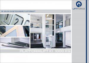 Brochure van de luxe platformlift