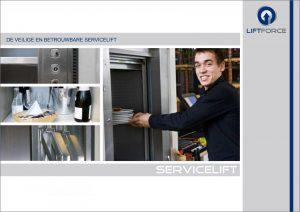 brochure van de servicelift keukenlift